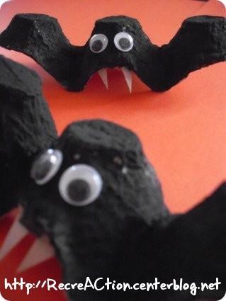 Chauve souris activit d 39 halloween pour enfants - Faire une araignee pour halloween ...