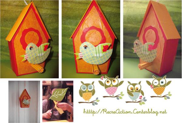 Exceptionnel à oiseaux en papier et carton ondulé QK03