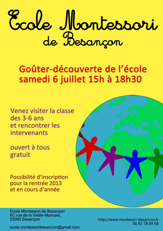 Goûter-découverte: Ecole Montessori Besançon
