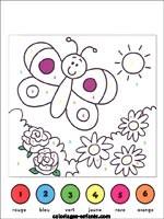 Coloriage à Numéro Le Papillon à Imprimer