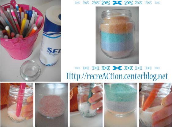 Vase en sel coloré