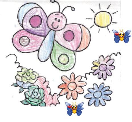 Coloriage num ros le papillon - Coloriage fleur tps ...