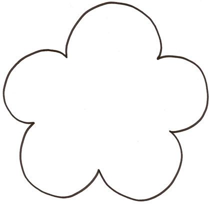 Gabarit fleur p tales ronds - Fleur a colorier et a decouper ...