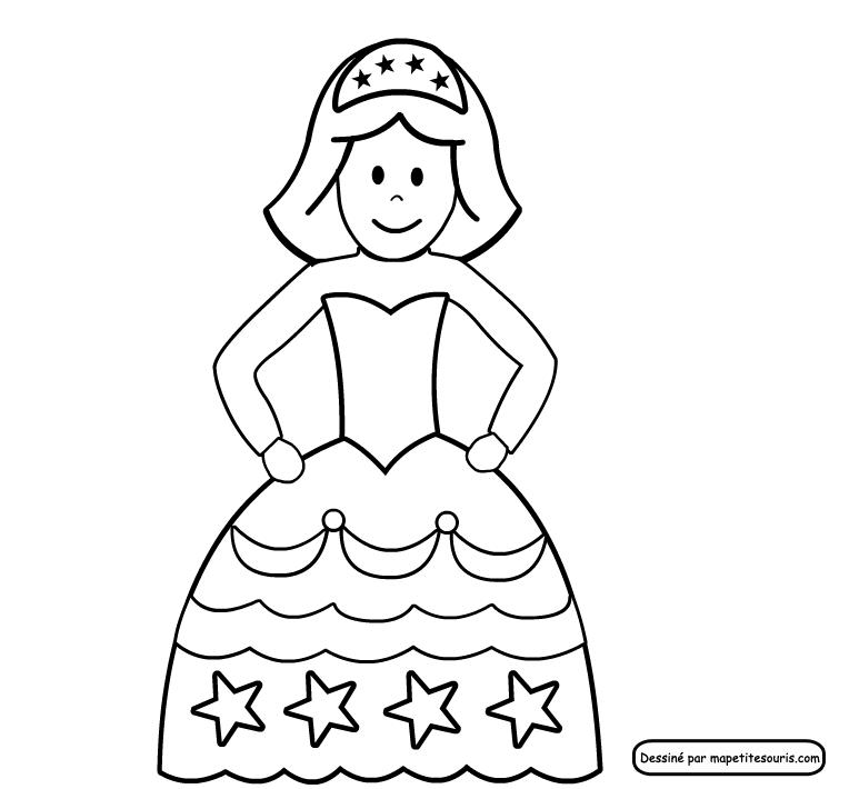 Coloriage Princesse Disney Facile Laborde Yves